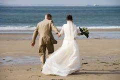 Het lopen op het strand Royalty-vrije Stock Foto