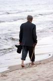 Het lopen op strand Royalty-vrije Stock Fotografie