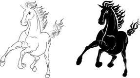 Het lopen paard Stock Afbeeldingen