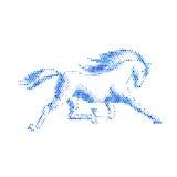 Het lopen paard Stock Foto's