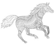 Eenhoorn Kleurplaat Met Een Veulen Twee Paarden Die Affectie Tonen Zentangle Stileerden