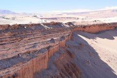 Het lopen reis in Valle DE La Muerte San Pedro de Atacama chili royalty-vrije stock fotografie