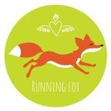 Het lopen rode vos Stock Foto's