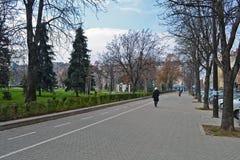 Het lopen rond Sofia in de herfst royalty-vrije stock foto's