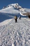 Het lopen in sneeuw Stock Afbeeldingen