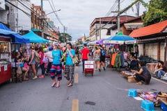 Het lopen straatmarkt Royalty-vrije Stock Foto
