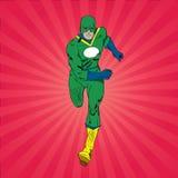 Het lopen Superhero Stock Afbeeldingen