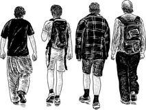 Het lopen tienerjaren Stock Foto