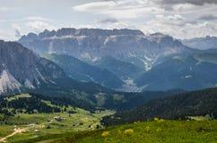 Het lopen in Trentino Alto Adige - Italië stock afbeeldingen