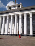 Het lopen in Tyraspol Royalty-vrije Stock Foto