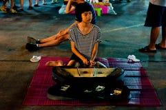 Het lopen van Bangsaen straat Royalty-vrije Stock Foto