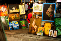 Het lopen van Bangsaen straat Royalty-vrije Stock Afbeeldingen