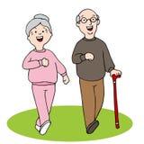 Het Lopen van bejaarden Stock Afbeelding