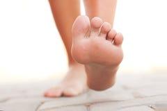 Het lopen van benen Stock Foto