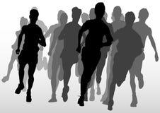 Het lopen van de concurrentie bemant Stock Foto