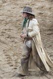 Het lopen van de cowboy Stock Foto's