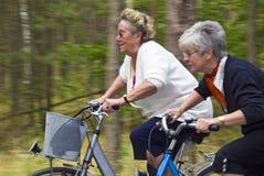 Het lopen van de fiets Royalty-vrije Stock Foto's