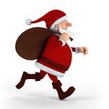 Het lopen van de Kerstman Stock Foto