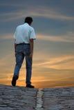 Het lopen van de mens Stock Foto