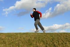 Het lopen van de mens Stock Fotografie