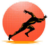 Het lopen van de sprinter Royalty-vrije Stock Foto