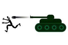 Het lopen van de tank en van de marionet Stock Fotografie