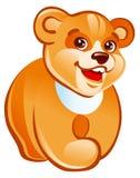 Het lopen van de teddybeer royalty-vrije illustratie
