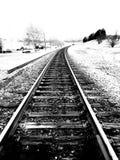 Het lopen van de treinsporen Stock Fotografie