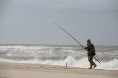 Het lopen van de visser Royalty-vrije Stock Afbeeldingen