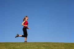 Het lopen van de vrouw Stock Fotografie