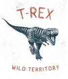 Het lopen van dinosaurus t-Rex vector illustratie