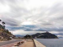Het lopen van een reis in Donostia Royalty-vrije Stock Foto