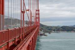 Het lopen van Golden gate bridge stock afbeelding