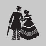 Het lopen van het paar. Royalty-vrije Stock Foto's