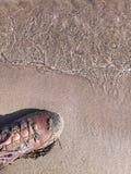 Het lopen van het strand stock fotografie