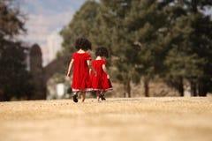 Het lopen van jonge geitjes Royalty-vrije Stock Afbeeldingen
