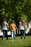 Het lopen van kinderen Royalty-vrije Stock Fotografie