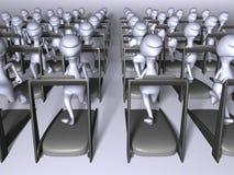 Het lopen van klonen Stock Foto's