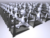 Het lopen van klonen Stock Afbeeldingen