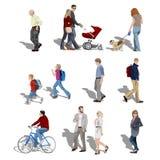 Het lopen van mensen Stock Afbeeldingen