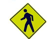 Het Lopen van Pedestian Teken Stock Fotografie