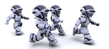 Het lopen van robots Stock Foto's