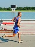 Het lopen van sportmannen Royalty-vrije Stock Fotografie