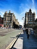 Het lopen van straat in de stad van Glasgow, Schotland Royalty-vrije Stock Foto
