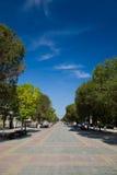 Het lopen van straat in Orenburg royalty-vrije stock foto