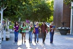 Het Lopen van studenten Stock Foto's