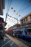 Het lopen van Thailand straatmarkt Royalty-vrije Stock Foto's