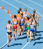 Het lopen van vrouwen Royalty-vrije Stock Afbeelding