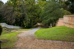 het lopen van weg in historische Williamsburg Va Stock Afbeelding