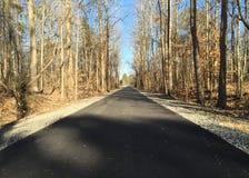 Het lopen van weg in Suffolk, Virginia royalty-vrije stock fotografie